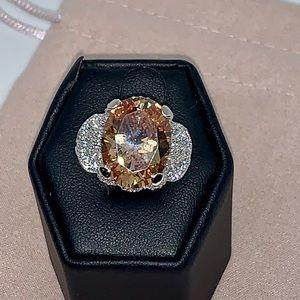 Joseph esposito citrine ring sterling silver 8.75